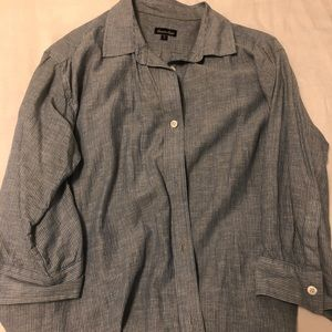 Steven Alan pin-striped button down shirt
